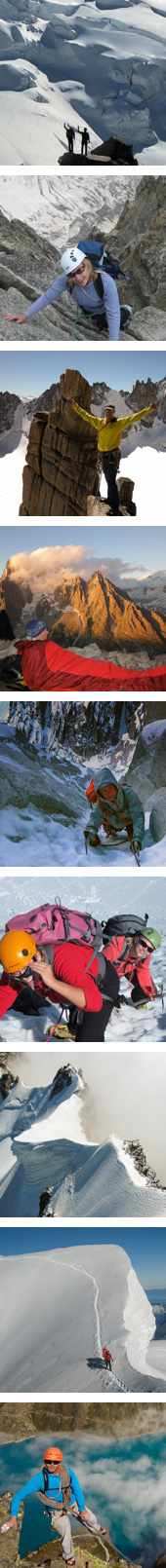 guided mountaineering chamonix