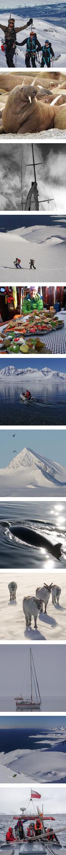 Svalbard ski touring and sailing