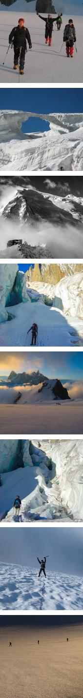 Vallee Blanche glacier hike