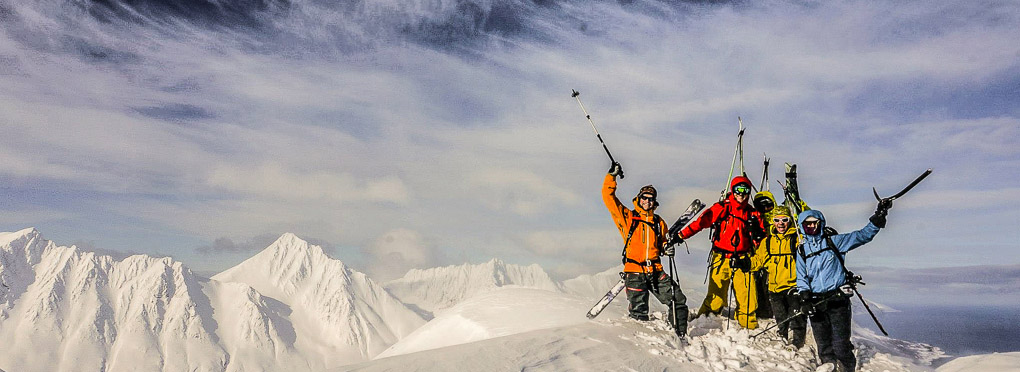 guided ski touring Lyngen