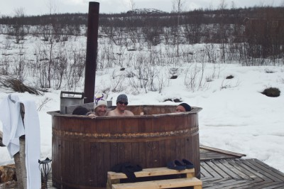 Hot tub at Abisko Mountainlodge