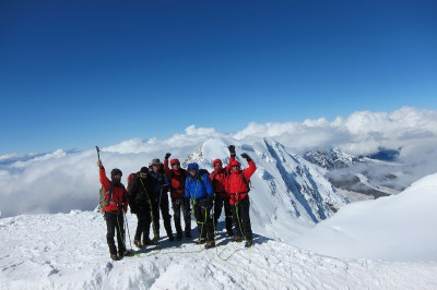Easy 4000m peaks in the Alps