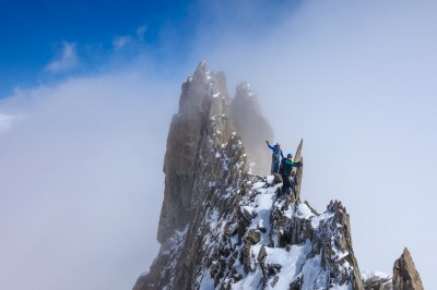 Alpine ridge - A classic mountaineering route