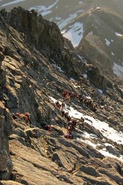 Morning traffic on Matterhorn