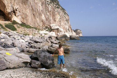 Cala Gonone rock climbing - After-climb at Biddriscottai Cave