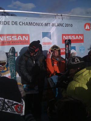 Freeride World Tour prize ceremony in Chamonix