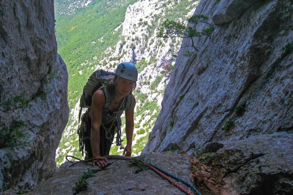 Climbing Velebitansky, 6a+, Paklenica