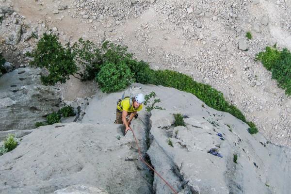 Climbing Paklenica Stup Wall
