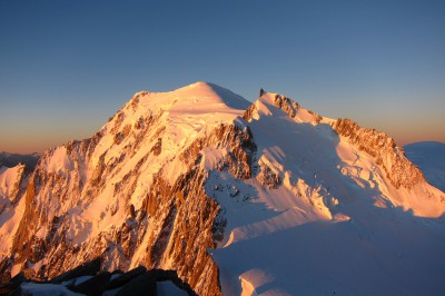Mont Blanc on the way over the 3 summits