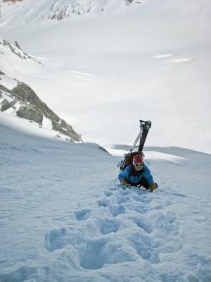Climbing towards Col de Courtes