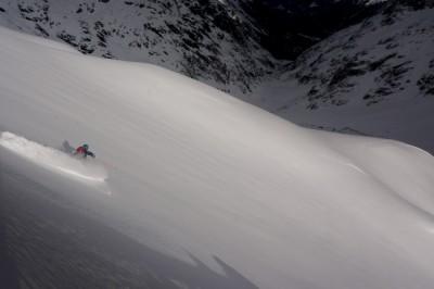 Skiing Vallon de Berarde