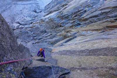Lower pitches on Pilier Cordier, 16 Sep 2011