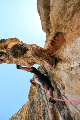 Climbing at Ahri Kalymnos