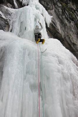 Climbing Frigor 4+ at Chatelard