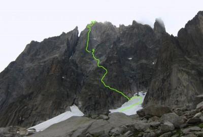 Grepon-Mer-de-Glace topo, D, 850m